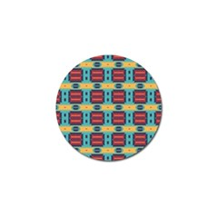 Blue Red And Yellow Shapes Pattern Golf Ball Marker (4 Pack) by LalyLauraFLM