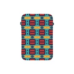 Blue Red And Yellow Shapes Pattern Apple Ipad Mini Protective Soft Case by LalyLauraFLM