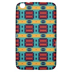 Blue Red And Yellow Shapes Pattern Samsung Galaxy Tab 3 (8 ) T3100 Hardshell Case  by LalyLauraFLM