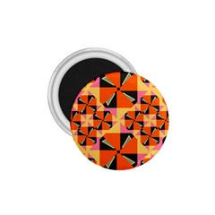 Windmill In Rhombus Shapes 1 75  Magnet