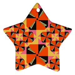 Windmill In Rhombus Shapes Star Ornament (two Sides) by LalyLauraFLM