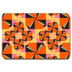 Windmill In Rhombus Shapes Large Doormat by LalyLauraFLM