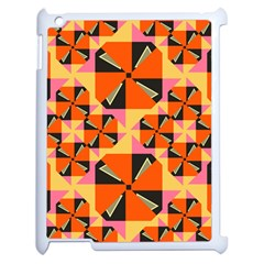 Windmill In Rhombus Shapes Apple Ipad 2 Case (white) by LalyLauraFLM