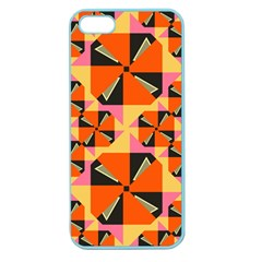 Windmill In Rhombus Shapes Apple Seamless Iphone 5 Case (color) by LalyLauraFLM