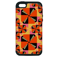 Windmill In Rhombus Shapes Apple Iphone 5 Hardshell Case (pc+silicone)
