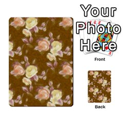 Vintage Roses Golden Multi-purpose Cards (rectangle)