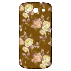 Vintage Roses Golden Samsung Galaxy S3 S Iii Classic Hardshell Back Case by MoreColorsinLife