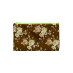 Vintage Roses Golden Cosmetic Bag (xs)