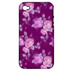 Vintage Roses Pink Apple Iphone 4/4s Hardshell Case (pc+silicone) by MoreColorsinLife