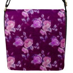 Vintage Roses Pink Flap Messenger Bag (s) by MoreColorsinLife