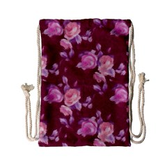 Vintage Roses Drawstring Bag (small)