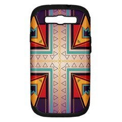 Cross And Other Shapes Samsung Galaxy S Iii Hardshell Case (pc+silicone)