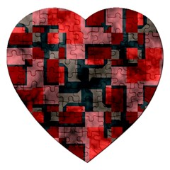 Textured Shapes Jigsaw Puzzle (heart) by LalyLauraFLM