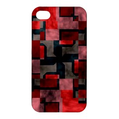 Textured Shapes Apple Iphone 4/4s Premium Hardshell Case by LalyLauraFLM