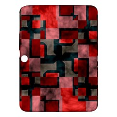Textured Shapes Samsung Galaxy Tab 3 (10 1 ) P5200 Hardshell Case  by LalyLauraFLM