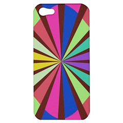 Rays In Retro Colors Apple Iphone 5 Hardshell Case by LalyLauraFLM