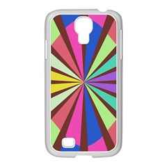 Rays In Retro Colors Samsung Galaxy S4 I9500/ I9505 Case (white) by LalyLauraFLM