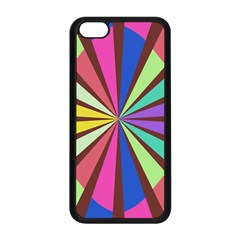 Rays In Retro Colors Apple Iphone 5c Seamless Case (black) by LalyLauraFLM