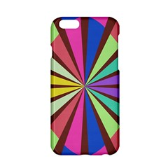 Rays In Retro Colors Apple Iphone 6 Hardshell Case by LalyLauraFLM