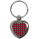 Rhombus and stripes pattern Key Chain (Heart) Front