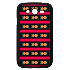 Rhombus And Stripes Pattern Samsung Galaxy Grand Duos I9082 Case (black) by LalyLauraFLM