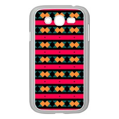 Rhombus And Stripes Pattern Samsung Galaxy Grand Duos I9082 Case (white) by LalyLauraFLM