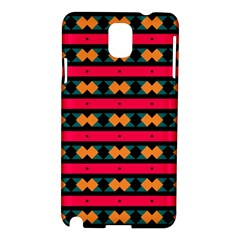 Rhombus And Stripes Pattern Samsung Galaxy Note 3 N9005 Hardshell Case by LalyLauraFLM