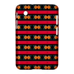Rhombus And Stripes Pattern Samsung Galaxy Tab 2 (7 ) P3100 Hardshell Case  by LalyLauraFLM