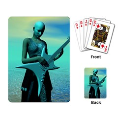 Sad Guitar Playing Card by icarusismartdesigns