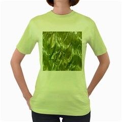 Crumpled Foil Women s Green T Shirt by MoreColorsinLife