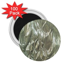 Crumpled Foil 2 25  Magnets (100 Pack)  by MoreColorsinLife