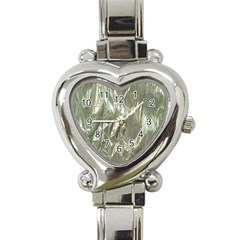 Crumpled Foil Heart Italian Charm Watch by MoreColorsinLife