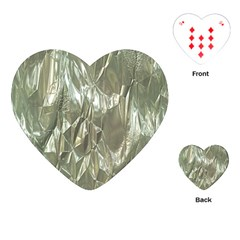 Crumpled Foil Playing Cards (heart)  by MoreColorsinLife