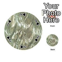 Crumpled Foil Playing Cards 54 (round)  by MoreColorsinLife