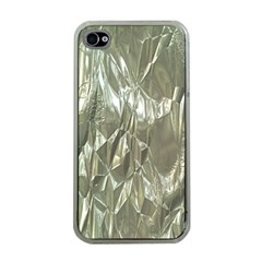 Crumpled Foil Apple Iphone 4 Case (clear) by MoreColorsinLife