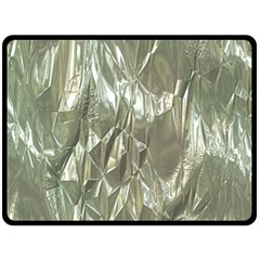 Crumpled Foil Double Sided Fleece Blanket (large)