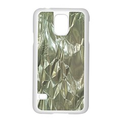 Crumpled Foil Samsung Galaxy S5 Case (white) by MoreColorsinLife