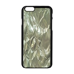 Crumpled Foil Apple Iphone 6/6s Black Enamel Case