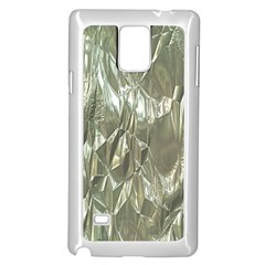 Crumpled Foil Samsung Galaxy Note 4 Case (white) by MoreColorsinLife