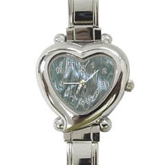 Crumpled Foil Blue Heart Italian Charm Watch by MoreColorsinLife