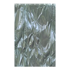 Crumpled Foil Blue Shower Curtain 48  X 72  (small)  by MoreColorsinLife