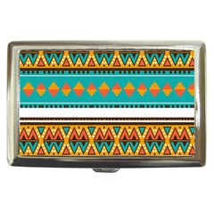 Tribal Design In Retro Colors Cigarette Money Case by LalyLauraFLM