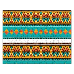 Tribal Design In Retro Colors Jigsaw Puzzle (rectangular) by LalyLauraFLM