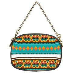 Tribal Design In Retro Colors Chain Purse (two Sides) by LalyLauraFLM