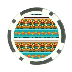 Tribal Design In Retro Colors Poker Chip Card Guard (10 Pack) by LalyLauraFLM