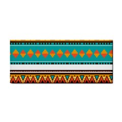 Tribal Design In Retro Colors Hand Towel by LalyLauraFLM