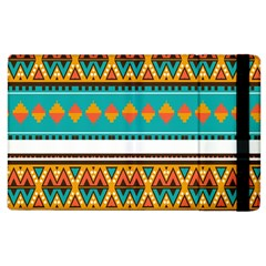Tribal Design In Retro Colors Apple Ipad 2 Flip Case by LalyLauraFLM
