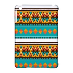 Tribal Design In Retro Colors Apple Ipad Mini Hardshell Case (compatible With Smart Cover) by LalyLauraFLM