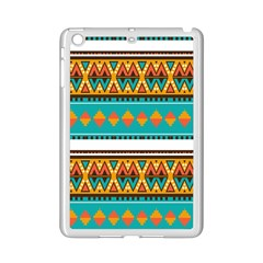 Tribal Design In Retro Colors Apple Ipad Mini 2 Case (white) by LalyLauraFLM
