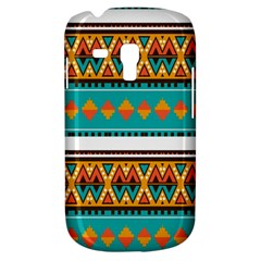 Tribal Design In Retro Colors Samsung Galaxy S3 Mini I8190 Hardshell Case by LalyLauraFLM